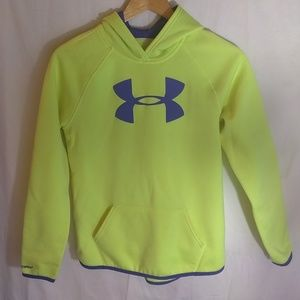 Girls Under Armour Yellow & Purple Sweatshirt Hood